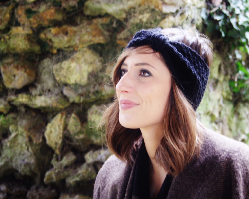 Huguette Paillettes - Couture Tricot - Poncho Headband