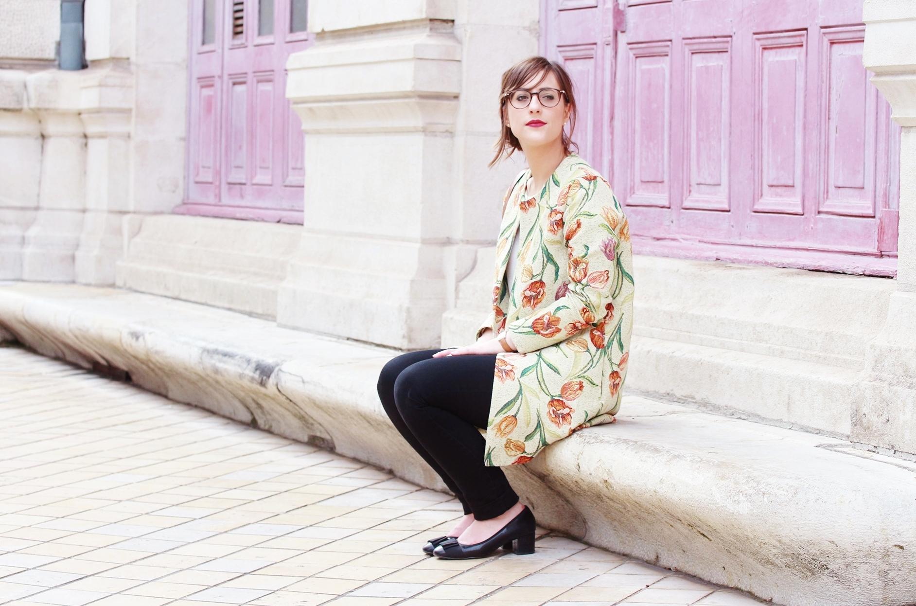 Huguette Paillettes - Couture - Veste Vintage Flowers (1)