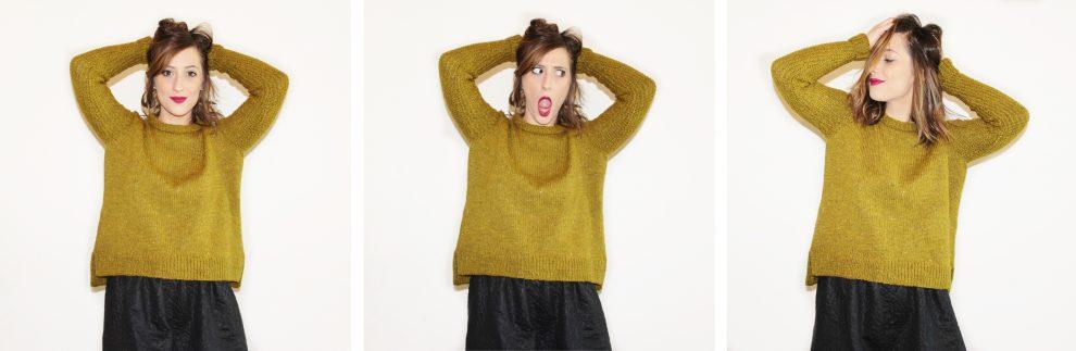 Huguette Paillettes x Aniline - Tricot Tuto Pull Linette