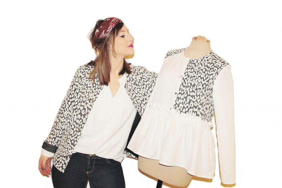 Huguette Paillettes - Couture top et veste - Imprimé Super Bison