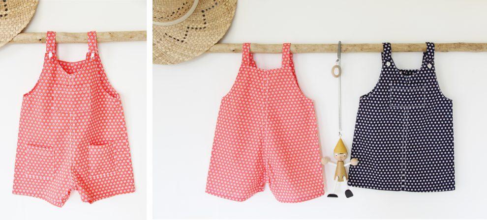 Huguette Paillettes - Couture pour les petits couture bébé - Patron Ikatee Duo London robe et salopette