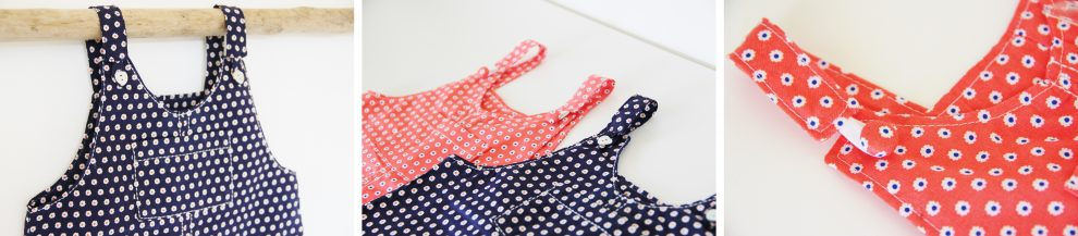 Huguette Paillettes - Couture pour les petits couture bébé - Patron London de Ikatee Duo robe et salopette