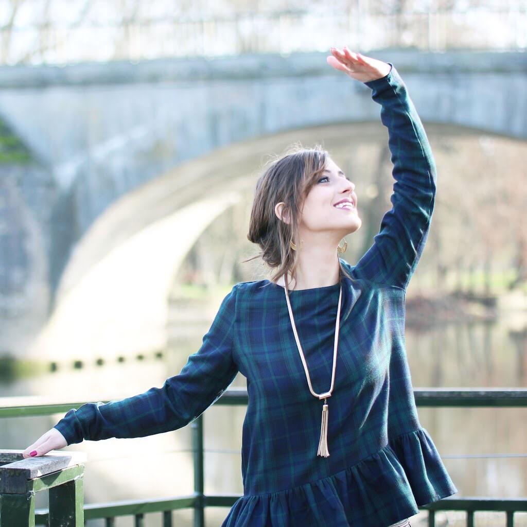 Huguette Paillettes - Couture - Top - Tartan