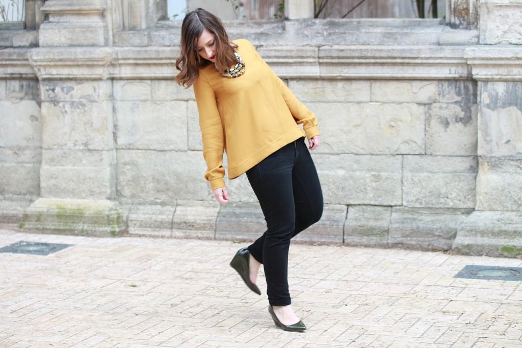 Huguette Paillettes - Couture - Top Jaune (1)