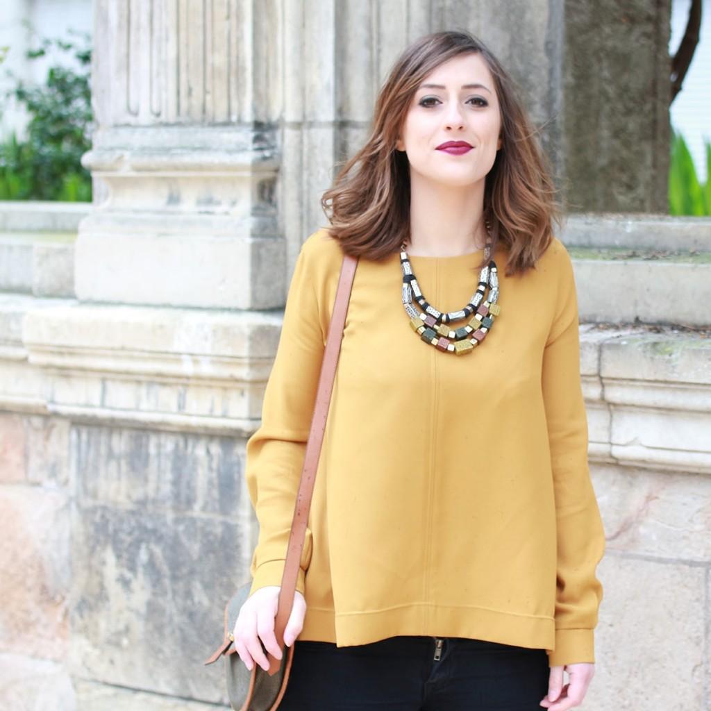 Huguette Paillettes - Couture - Top Jaune (8)