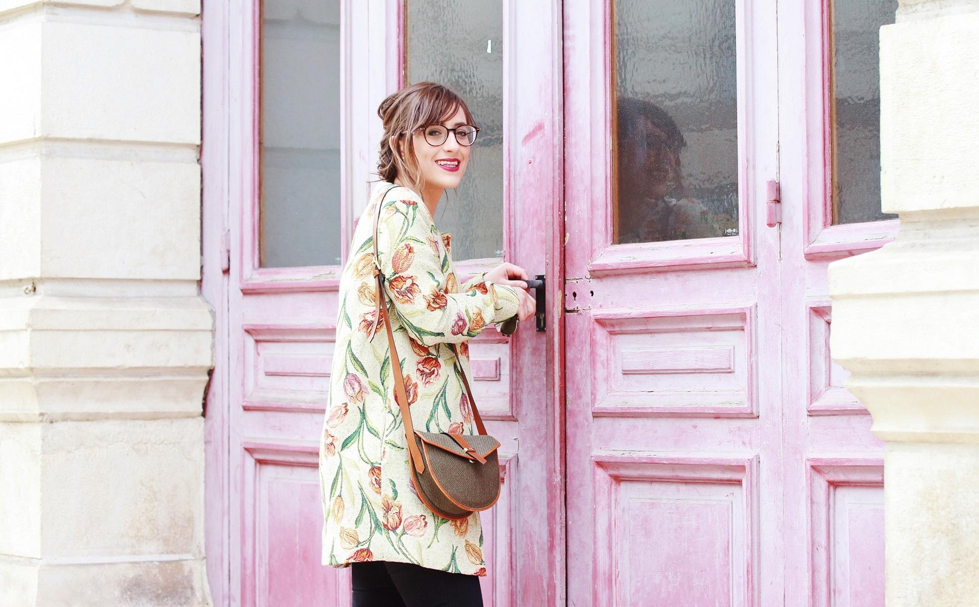 Huguette Paillettes - Couture - Veste Vintage Flowers (10)