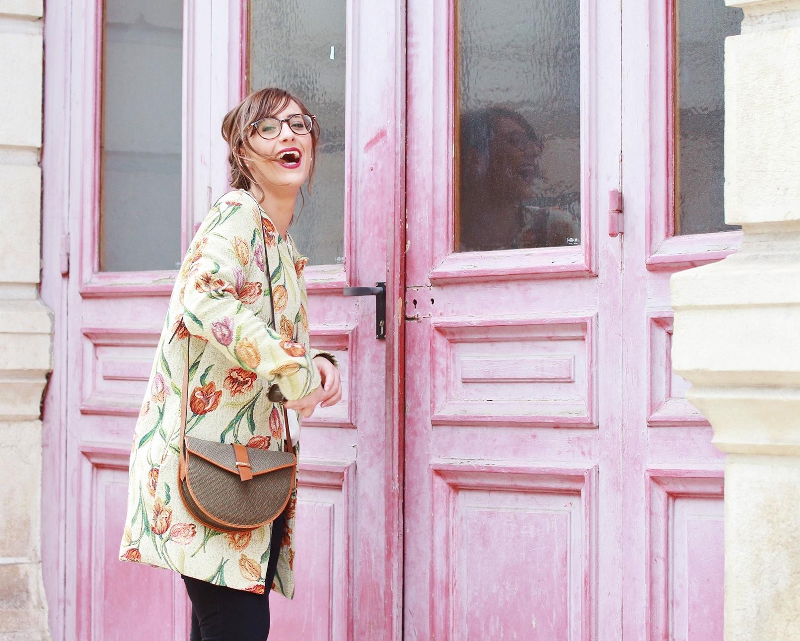 Huguette Paillettes - Couture - Veste Vintage Flowers (11)