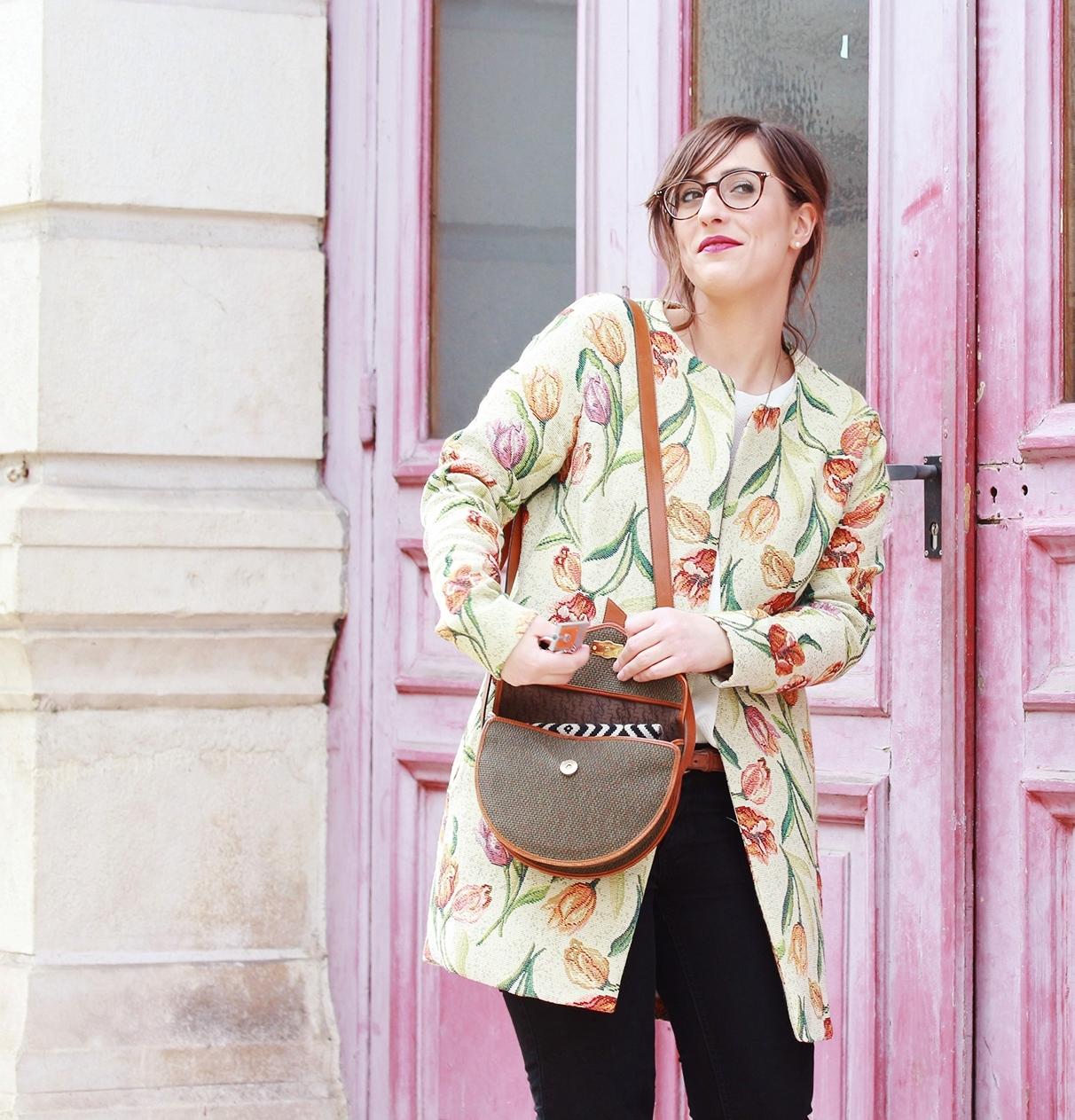 Huguette Paillettes - Couture - Veste Vintage Flowers (12)