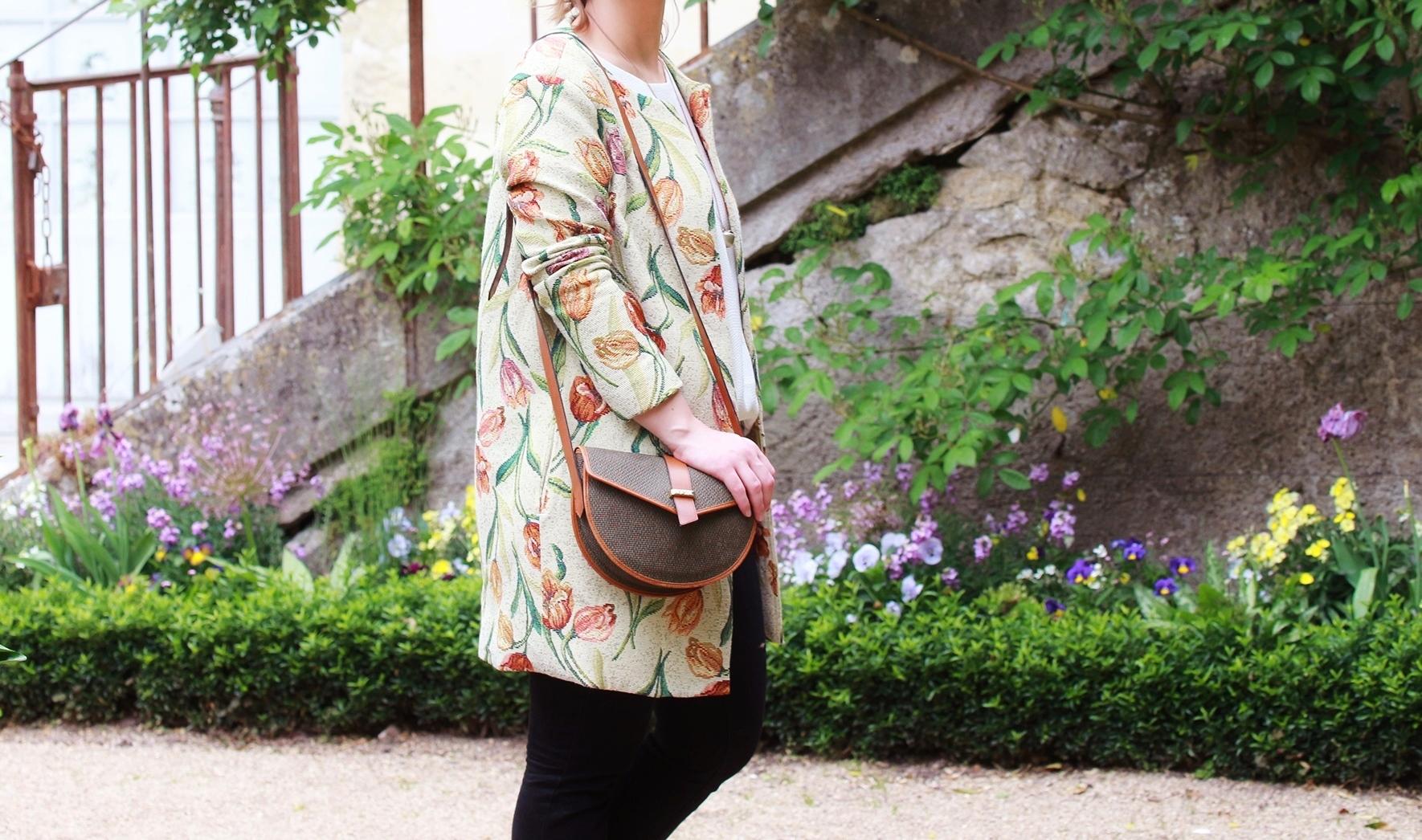 Huguette Paillettes - Couture - Veste Vintage Flowers (4) - Copie