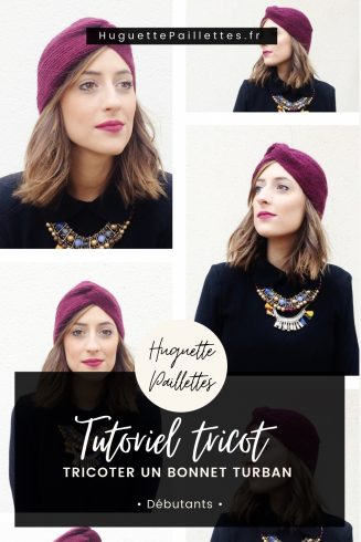 Épingle Pinterest : Tutoriel tricot débutant tricoter un bonnet turban