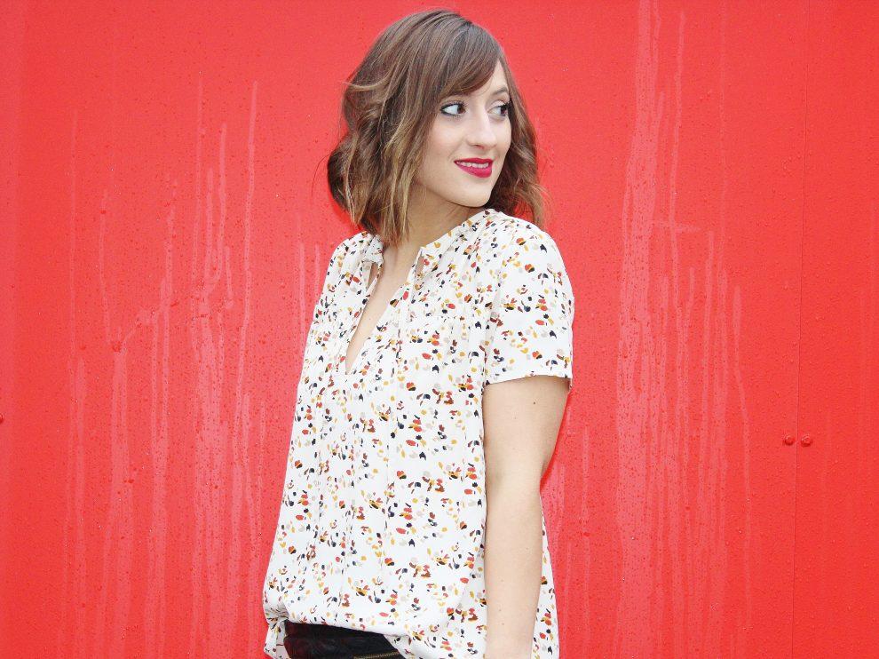 Huguette Paillettes Couture Blouse ample imprimée Mondial Tissus