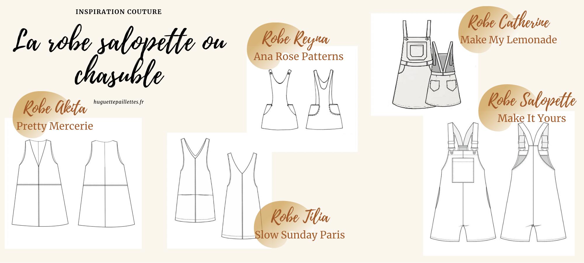 Couture Patron robe salopette ou robe chasuble
